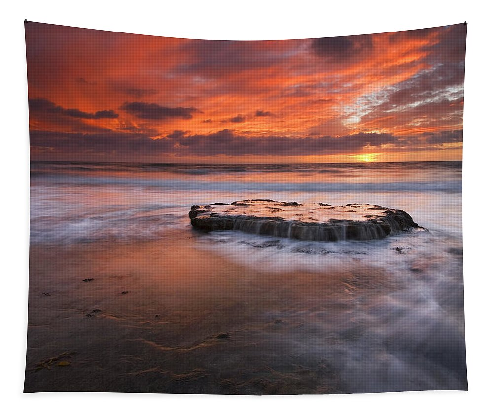 Island Tapestry featuring the photograph Island In The Storm by Mike Dawson