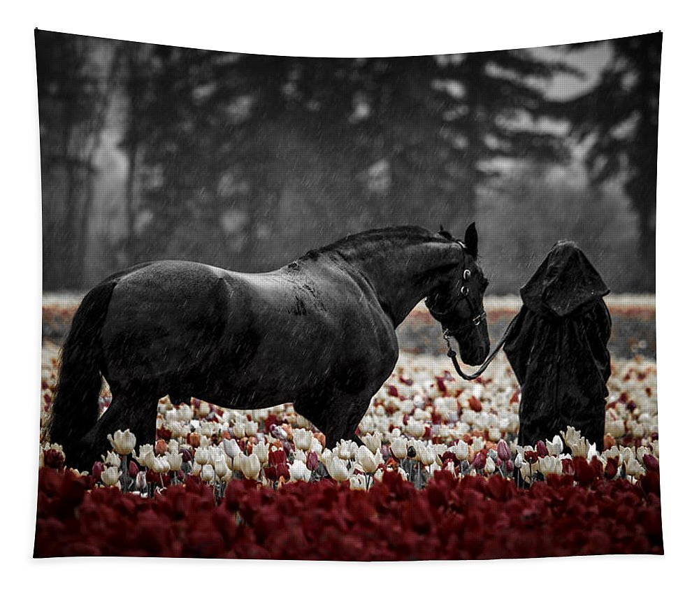 It Was A Dark And Rainy Night Tapestry featuring the photograph It Was A Dark And Rainy Night by Wes and Dotty Weber