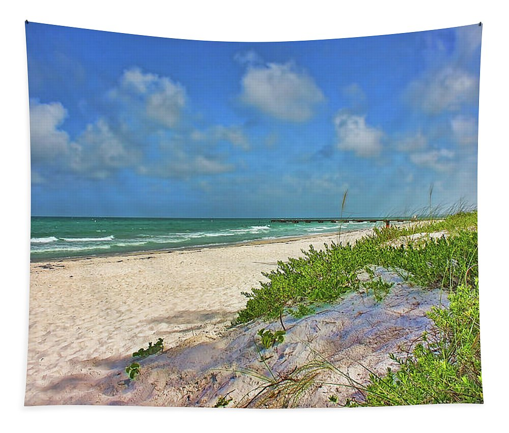 Beach Tapestry featuring the photograph It's A Beach Kind Of Morning by HH Photography of Florida