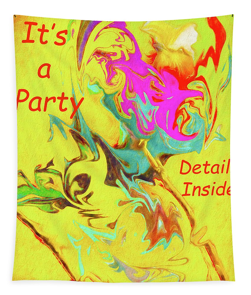 Invitation Tapestry featuring the photograph It's A Party Abstract by Kay Brewer