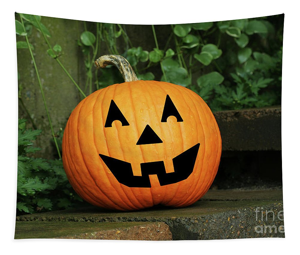 Jack O Lantern Tapestry featuring the photograph Jack 0' Lantern by Judy Whitton