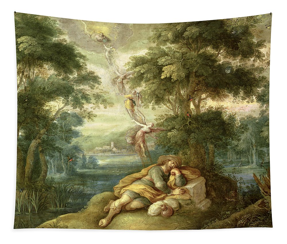 Jacob Tapestry featuring the painting Jacobs Dream by Frans Francken