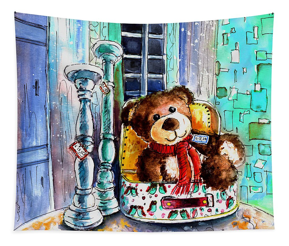Truffle Mcfurry Tapestry featuring the painting Jacques De Saint Antonin Noble Val by Miki De Goodaboom