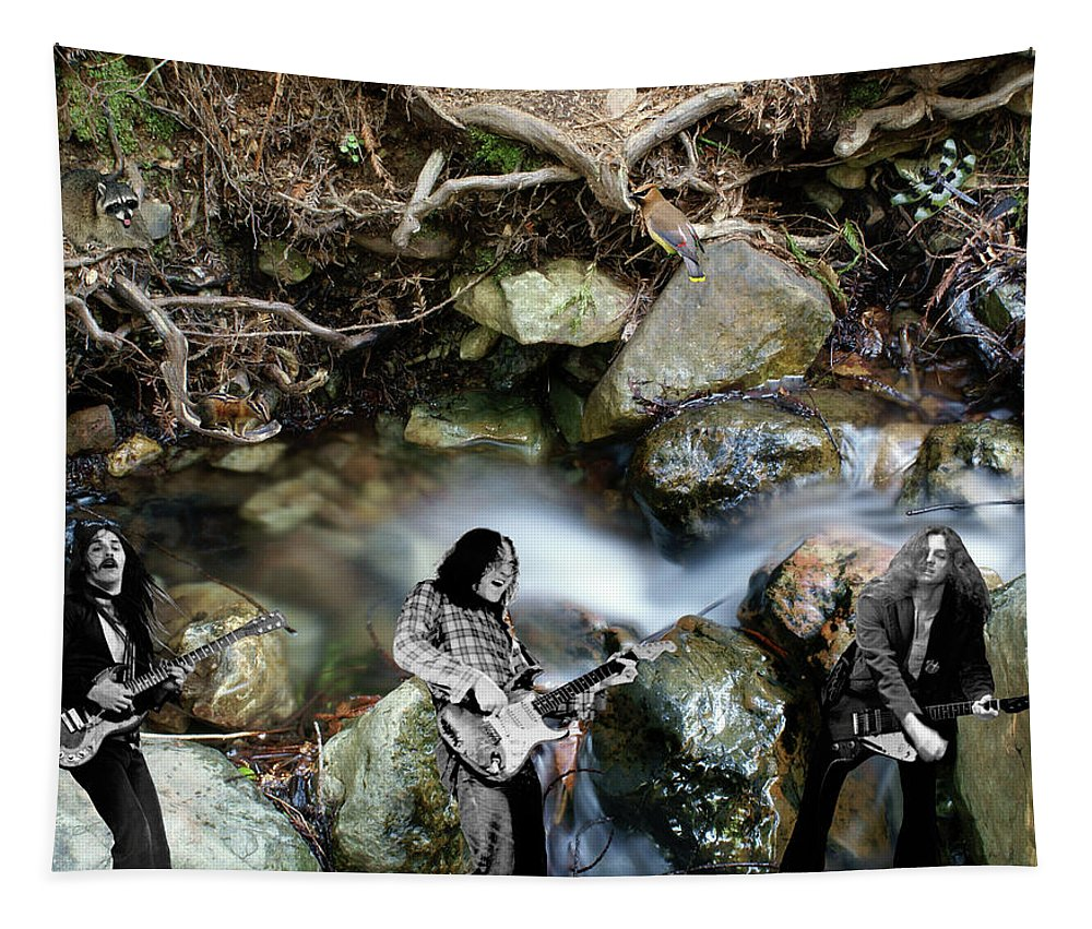 Rock And Roll Tapestry featuring the photograph Jam At The Creek 2018 #1 With Critters by Ben Upham