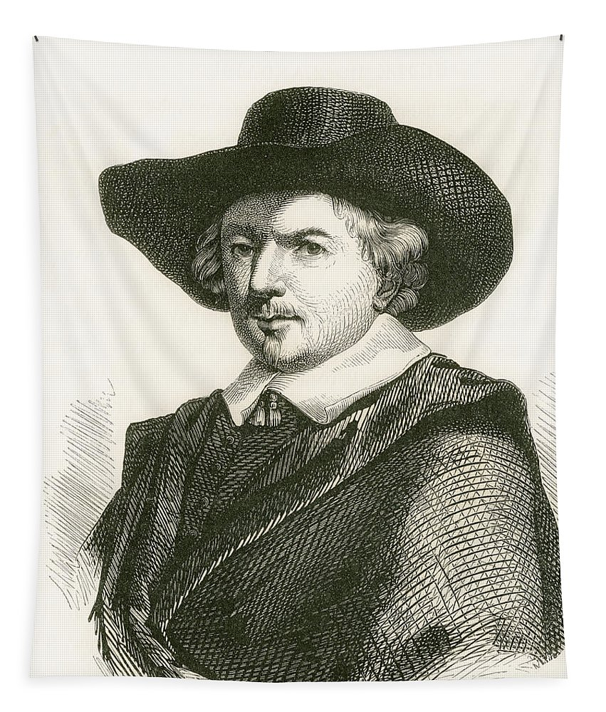 Welsh Tapestry featuring the drawing Jan Josephszoon Van Goyen, 1596 by Vintage Design Pics