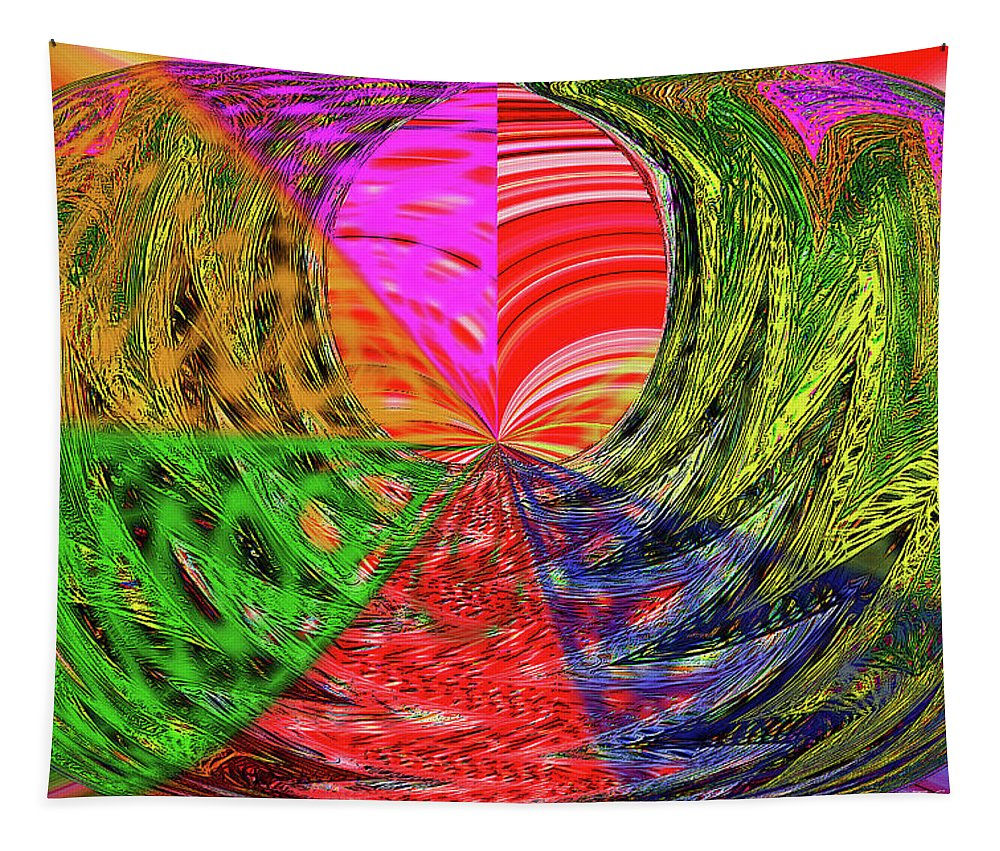 Janca Colors Panel Abstract # 5212 Wtw7 Tapestry featuring the digital art Janca Colors Panel Abstract # 5212 Wtw7 by Tom Janca