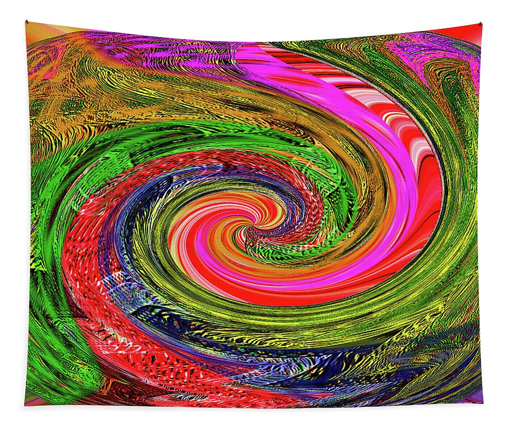 Janca Colors Panel Abstract # 5212 Wtw7abc Tapestry featuring the digital art Janca Colors Panel Abstract # 5212 Wtw7abc by Tom Janca