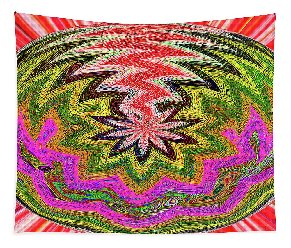 Janca Color Panel Abstract #5212 Wtw6 Tapestry featuring the digital art Janca Pink Color Panel Abstract #5212 Wtw6 by Tom Janca