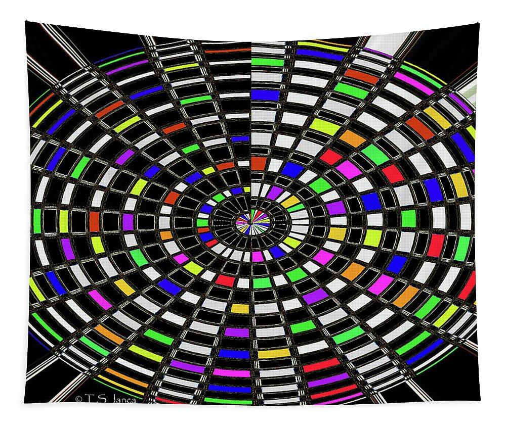 Jancaart # 4375-12s Tapestry featuring the digital art Jancaart # 4375-12s by Tom Janca
