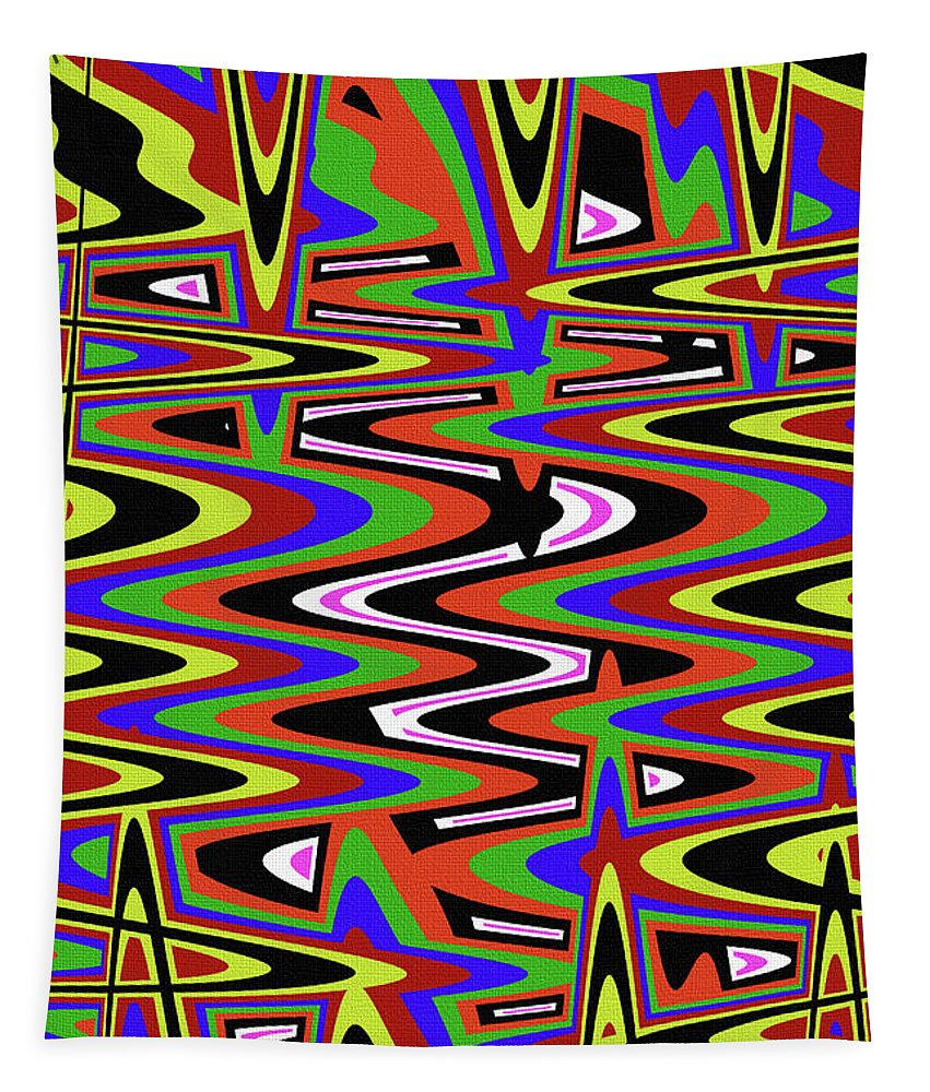 Jancart Drawing Abstract #8455ws Tapestry featuring the photograph Jancart Drawing Abstract #8455ws by Tom Janca