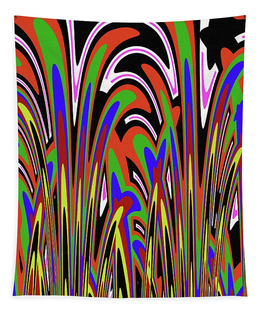 Jancart Drawing Abstract #8455wspc Tapestry featuring the photograph Jancart Drawing Abstract #8455wspc by Tom Janca