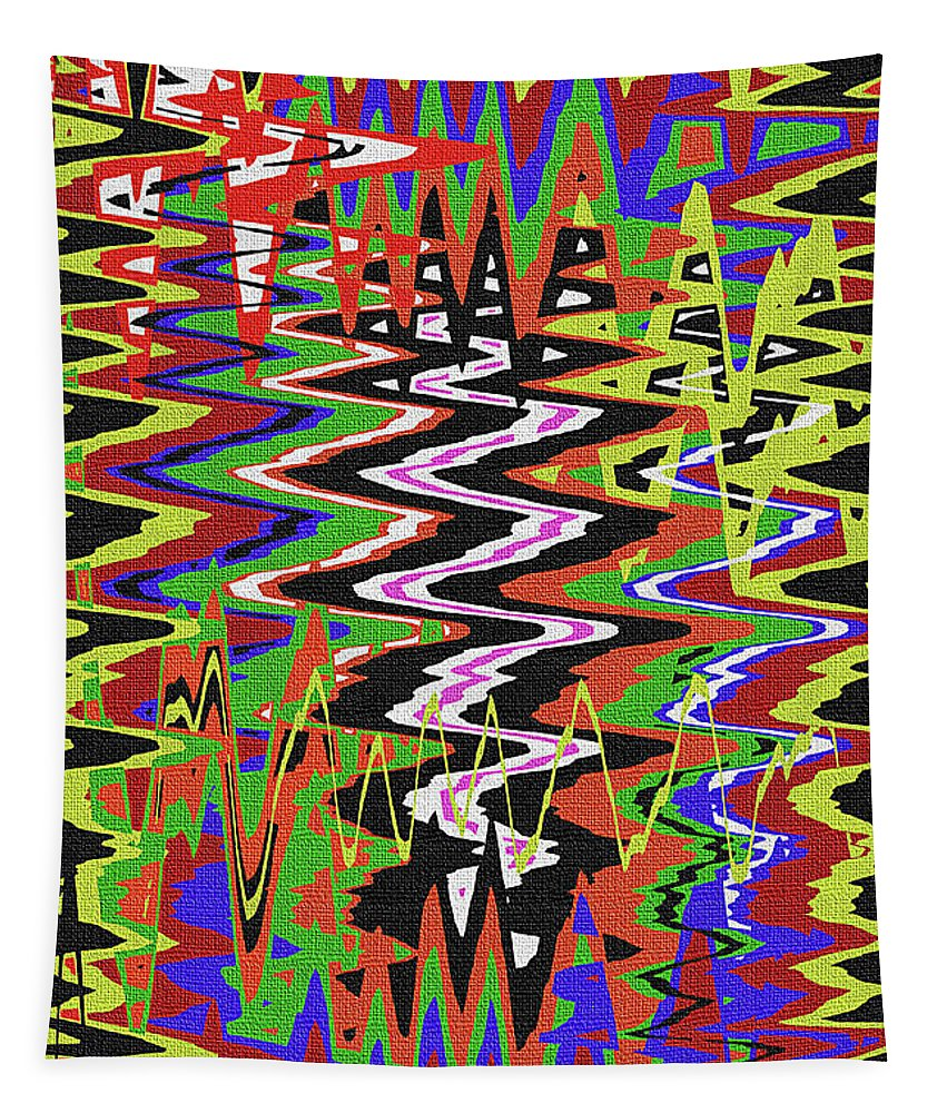 Jancart Drawing Abstract #8455wt Tapestry featuring the photograph Jancart Drawing Abstract #8455wt by Tom Janca