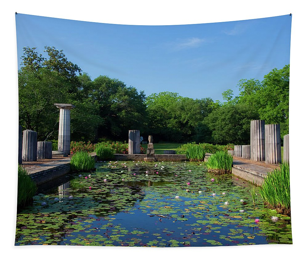 Jasmine Hill Gardens Tapestry featuring the photograph Jasmine Hill Gardens by Mountain Dreams