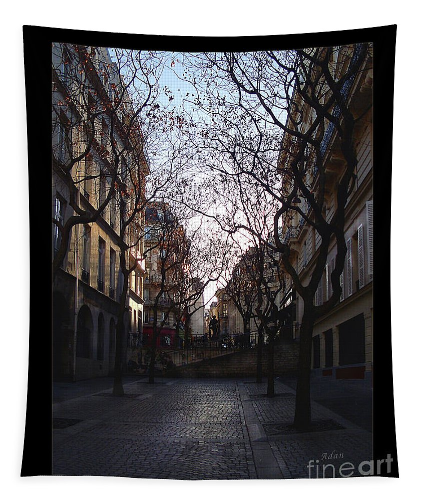 Place Jean Beauvais Tapestry featuring the photograph Jean Beauvais Paris Evening Light by Felipe Adan Lerma