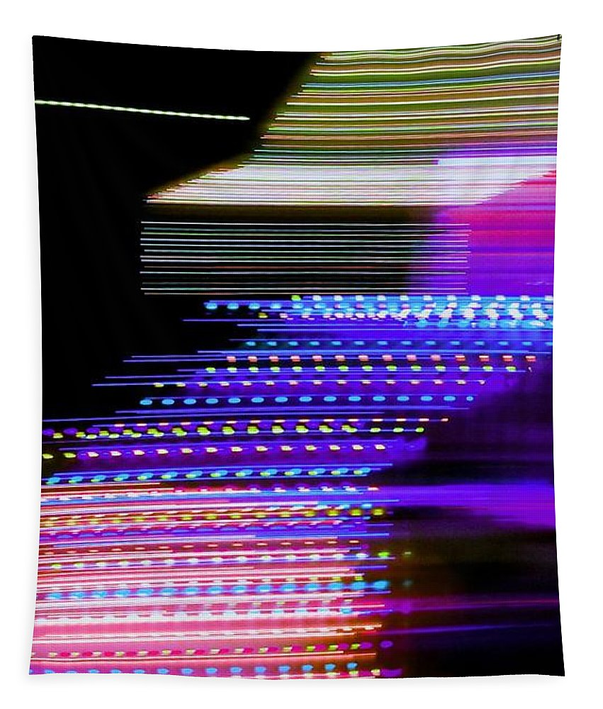 Night Tapestry featuring the photograph Jeff's House by Uther Pendraggin