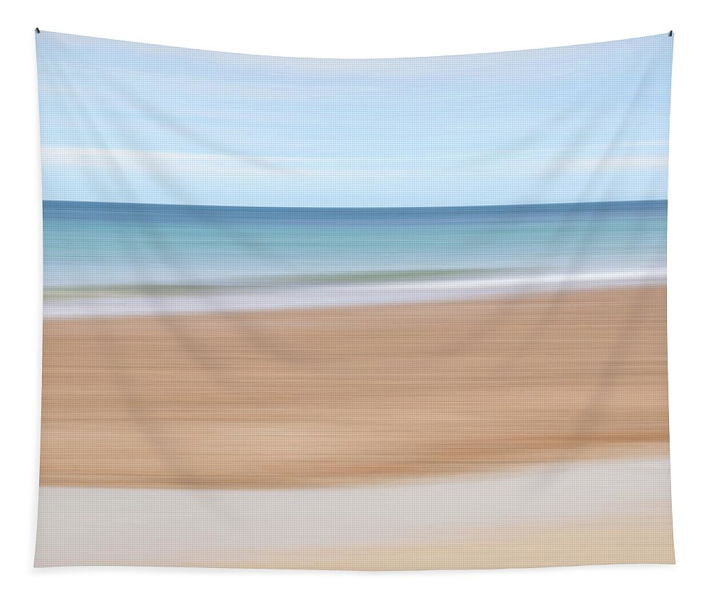 Beachscape Tapestry featuring the photograph Jersey Coast Seascape Abstract by Gill Billington