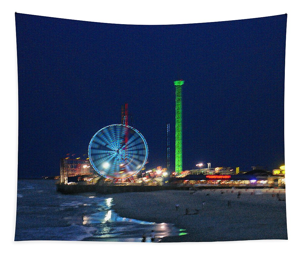 Landscape Tapestry featuring the digital art Jersey Shore by Steve Karol