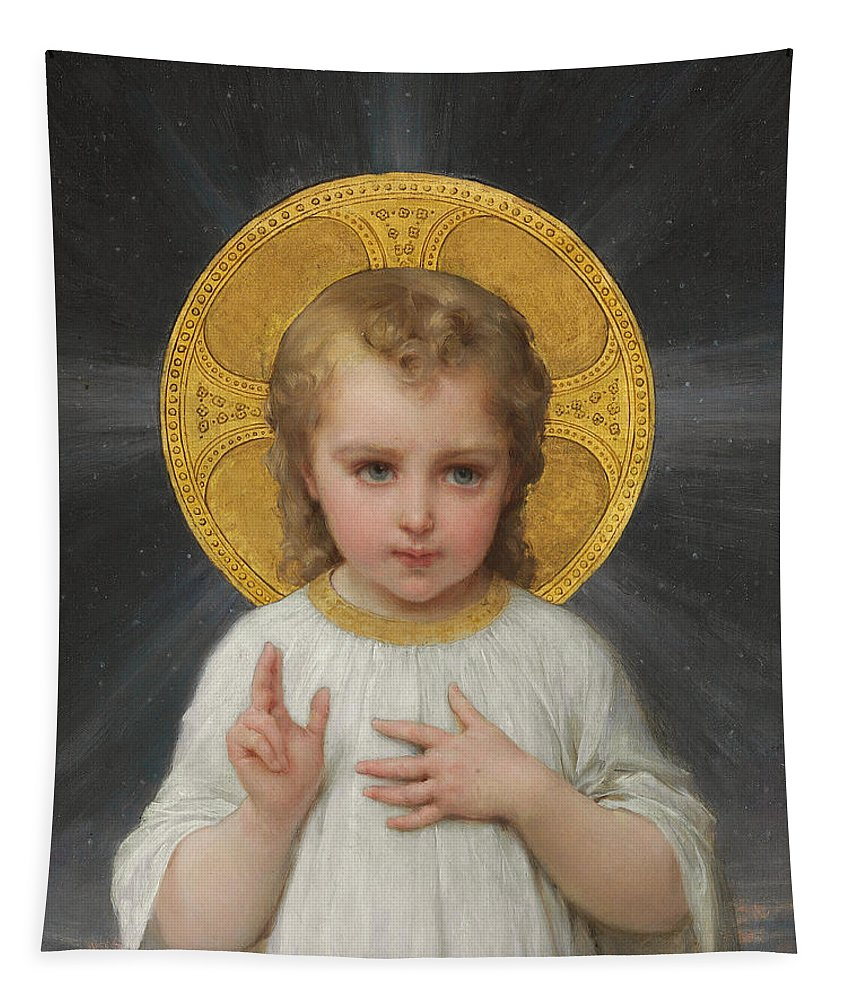 Son Of God Tapestry featuring the painting Jesus by Emile Munier