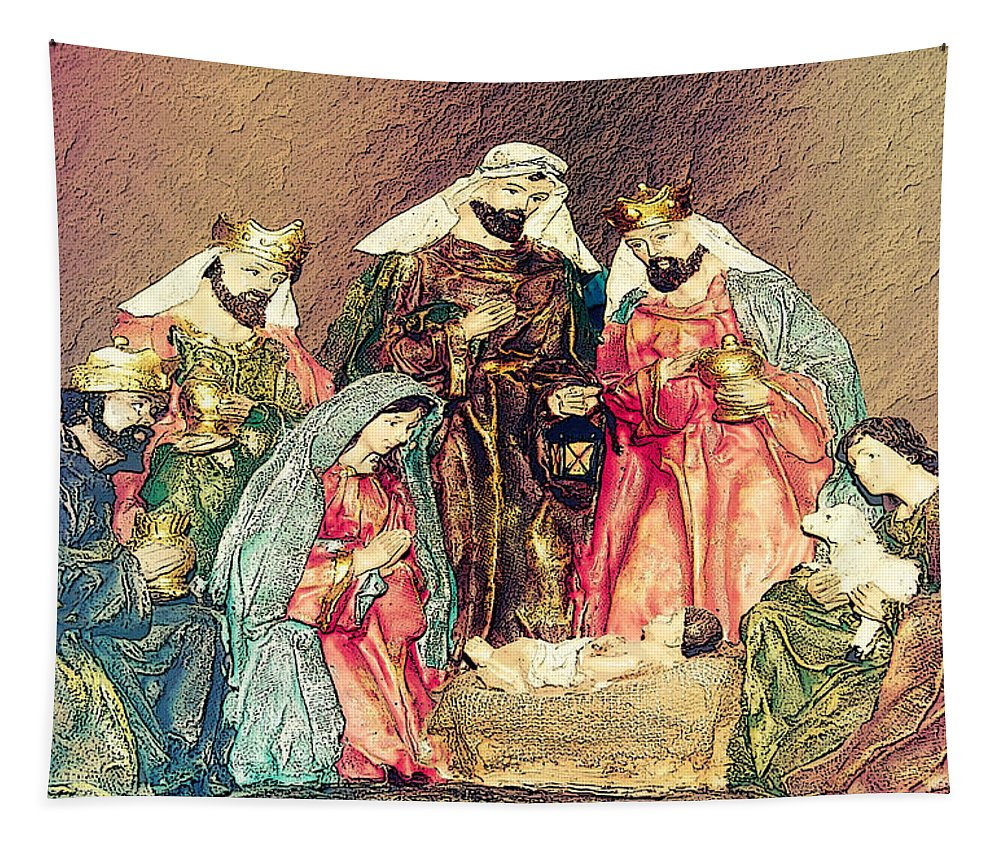 Greeting Card Tapestry featuring the photograph Jesus Is Born by Leticia Latocki