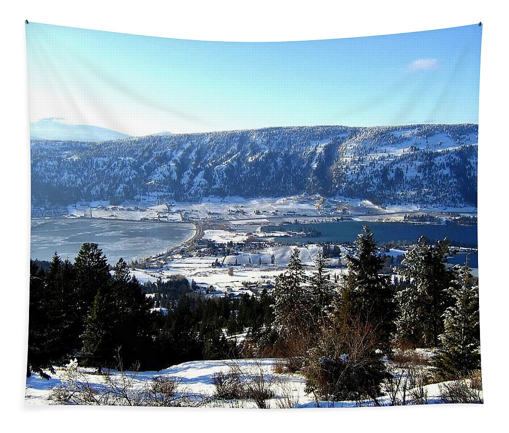 Oyama Tapestry featuring the photograph Jewel Of The Okanagan by Will Borden