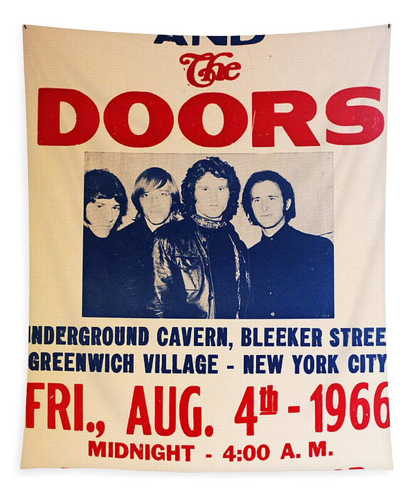 Doors Tapestry featuring the photograph Jim Morrison And The Doors Poster Collection 3 by Bob Christopher