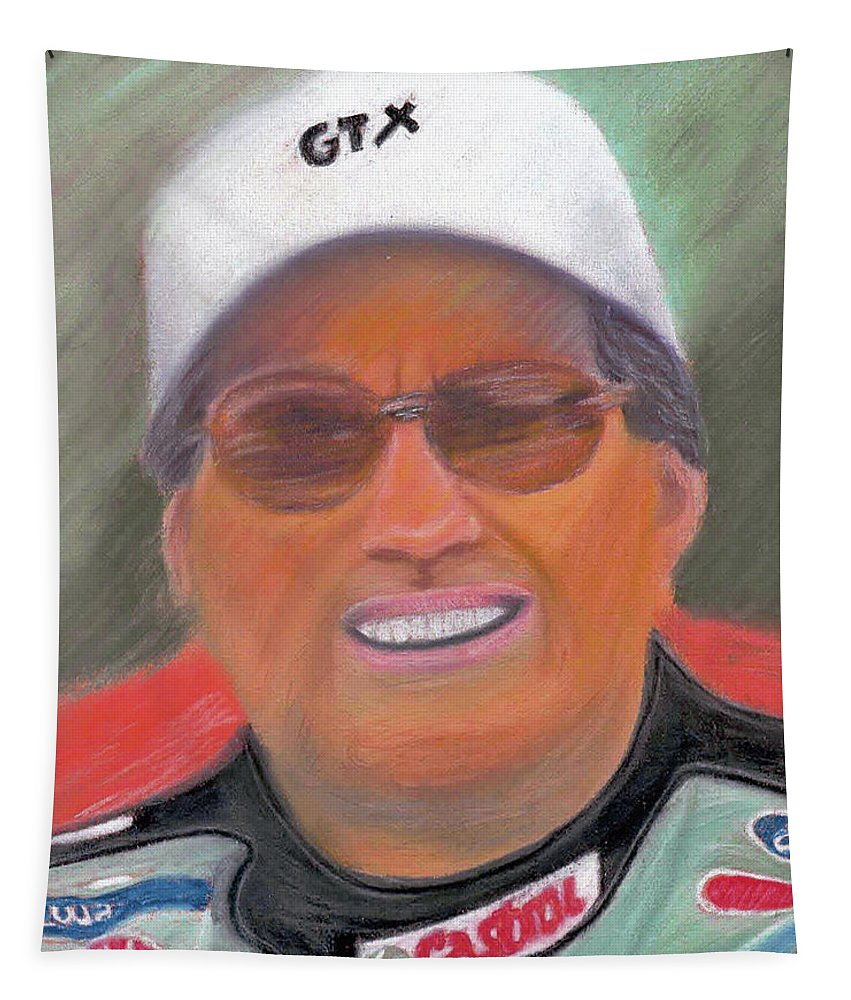 John Tapestry featuring the painting John Force by William Bowers