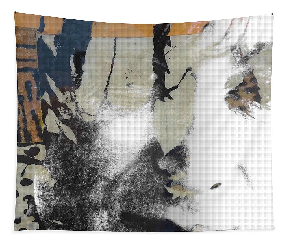 The Beatles Tapestry featuring the digital art John Lennon - In My Life by Paul Lovering