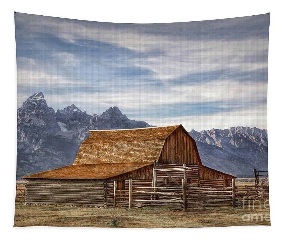 John Moulton Barn Tapestry featuring the photograph John Moulton Barn by Lynn Sprowl