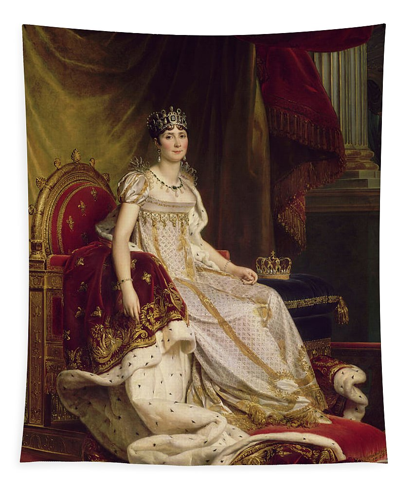 Painting Tapestry featuring the painting Josephine In Coronation Costume by Baron Francois Gerard