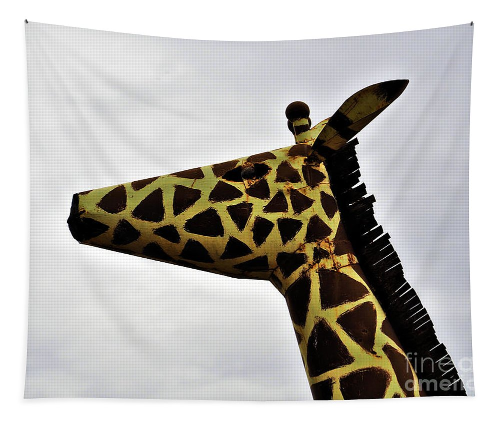 Giraffe Tapestry featuring the photograph Joy To The World by Gary Richards