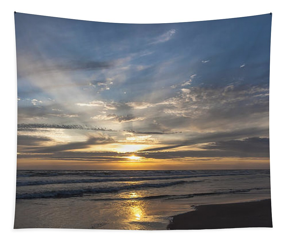 Sea Tapestry featuring the photograph July 2015 Sunset Part 3 by Alex Hiemstra