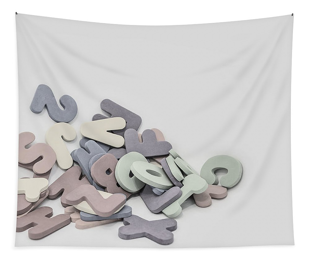 Still Life Photography Tapestry featuring the photograph Jumbled Letters by Scott Norris