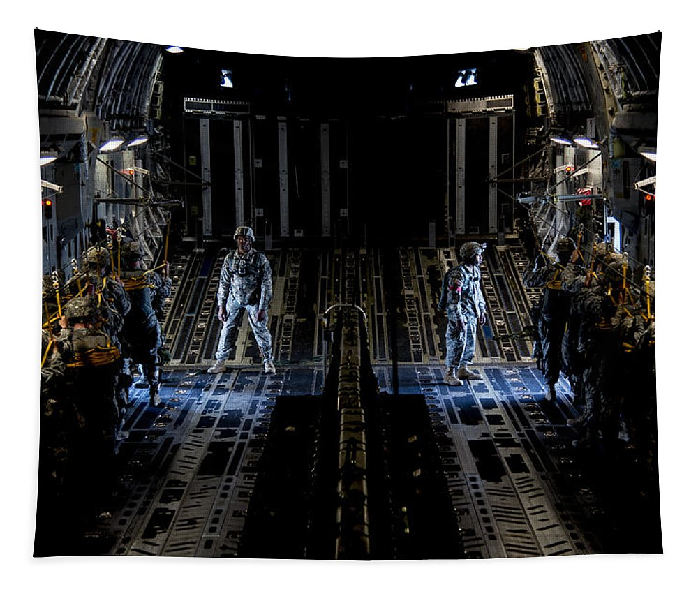 82nd Airborne Division Tapestry featuring the photograph Jump by JC Findley