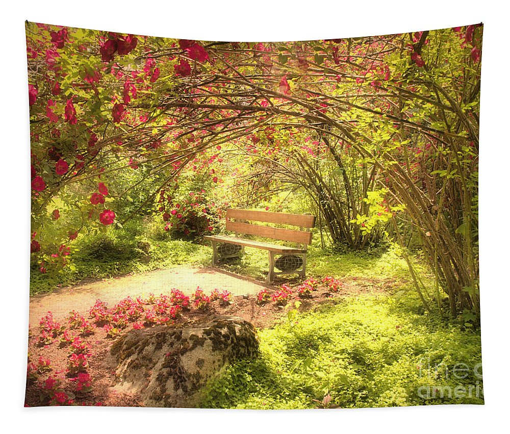 Bench Tapestry featuring the photograph June 20 2010 by Tara Turner