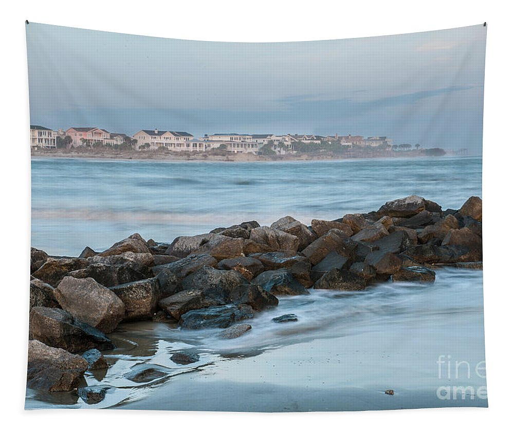 Breach Inlet Tapestry featuring the photograph Just Add Salt by Dale Powell