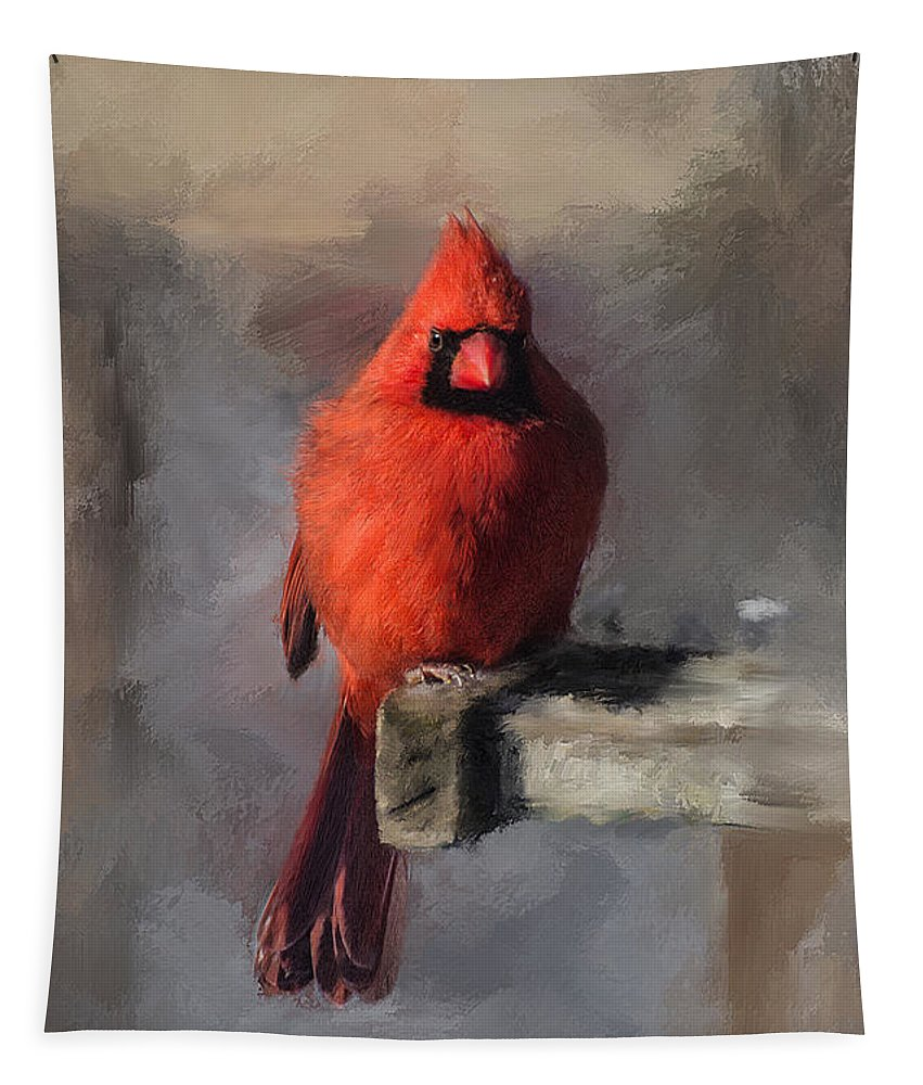 Cardinal Tapestry featuring the digital art Just An Ordinary Day by Lois Bryan