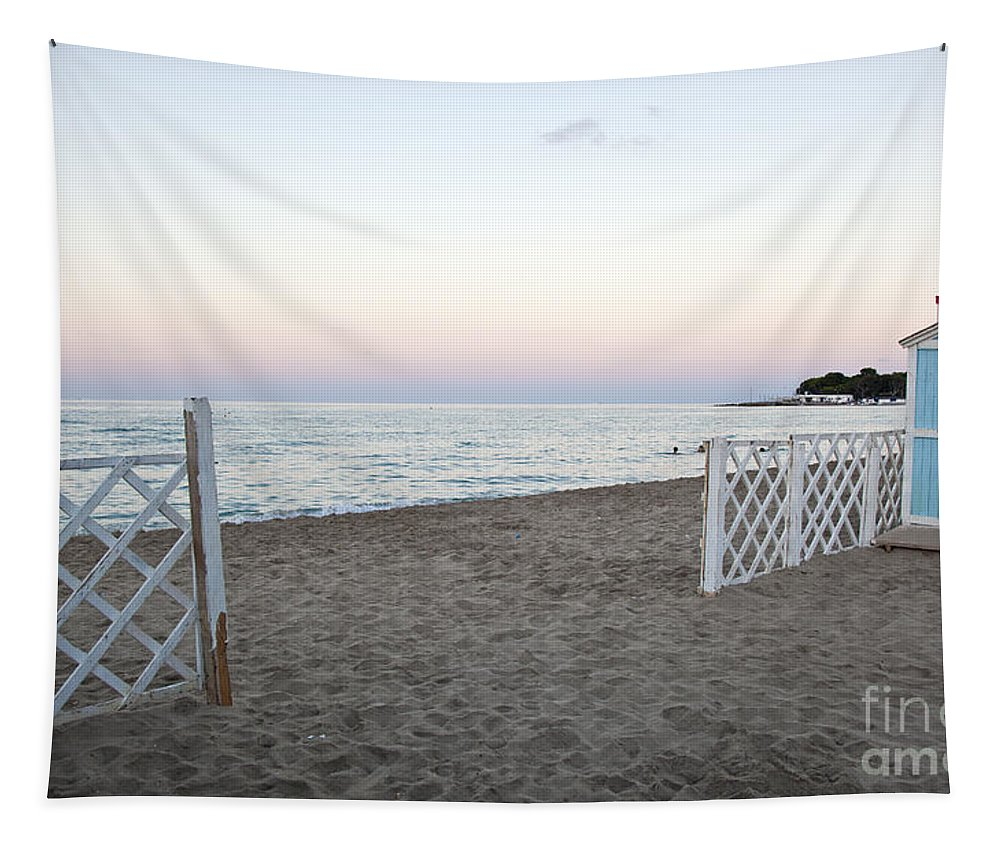 Beach Tapestry featuring the photograph Just Before Sunset by Madeline Ellis