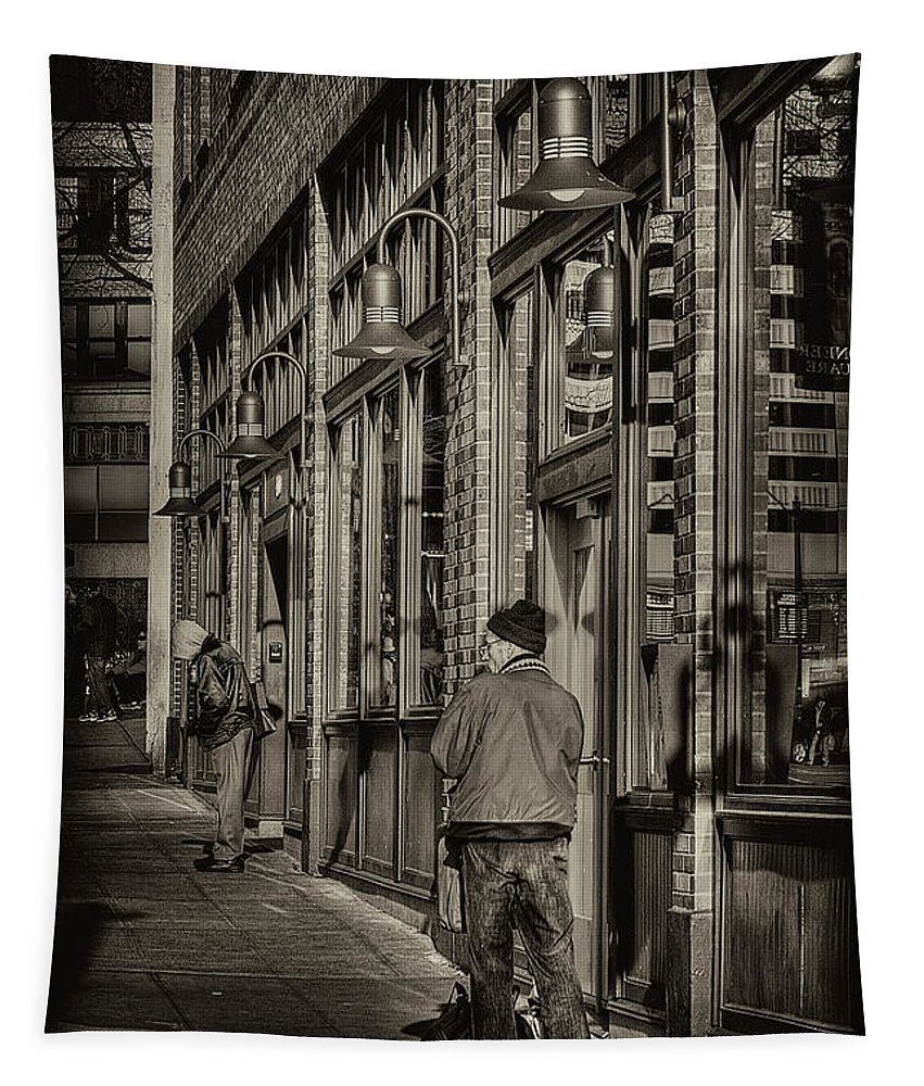 Pioneer Square Tapestry featuring the photograph Just Waiting by David Patterson