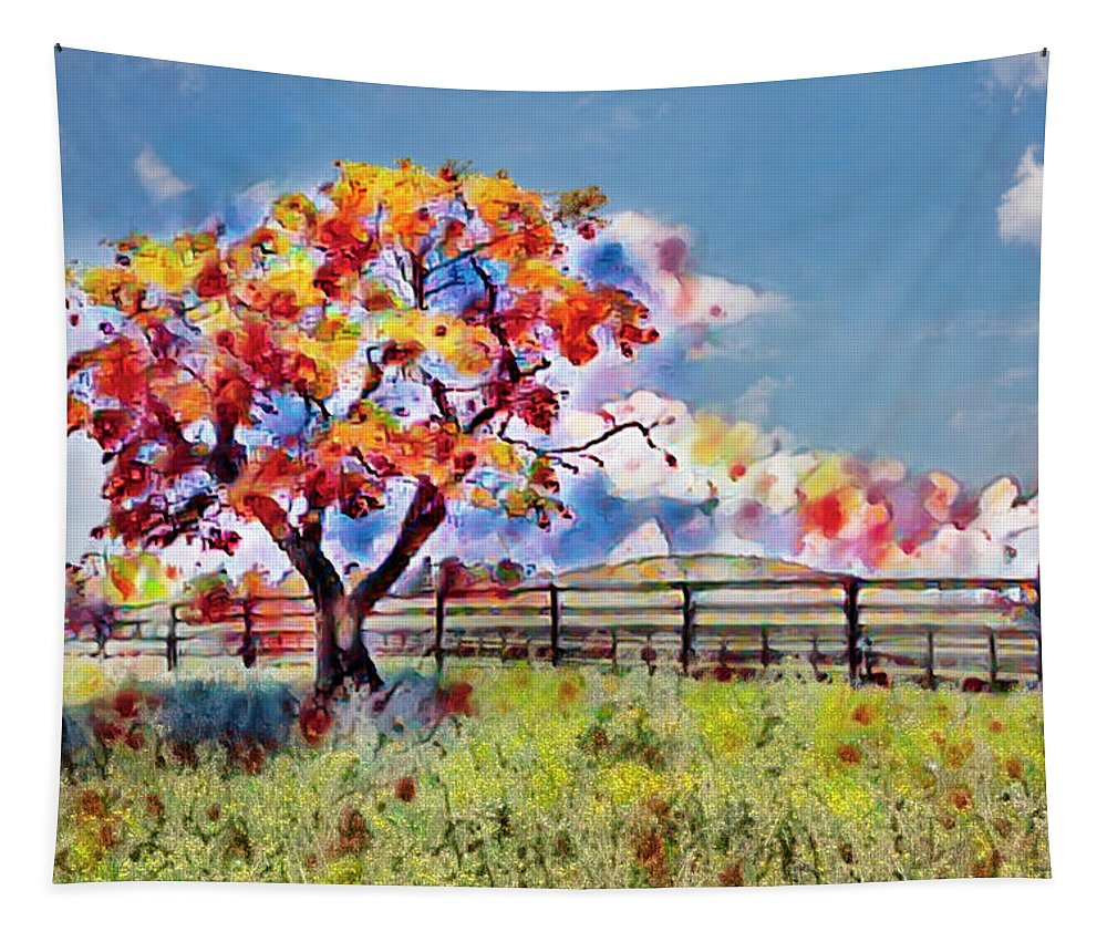 Barn Tapestry featuring the photograph Kaleidoscope Of Colors by Debra and Dave Vanderlaan