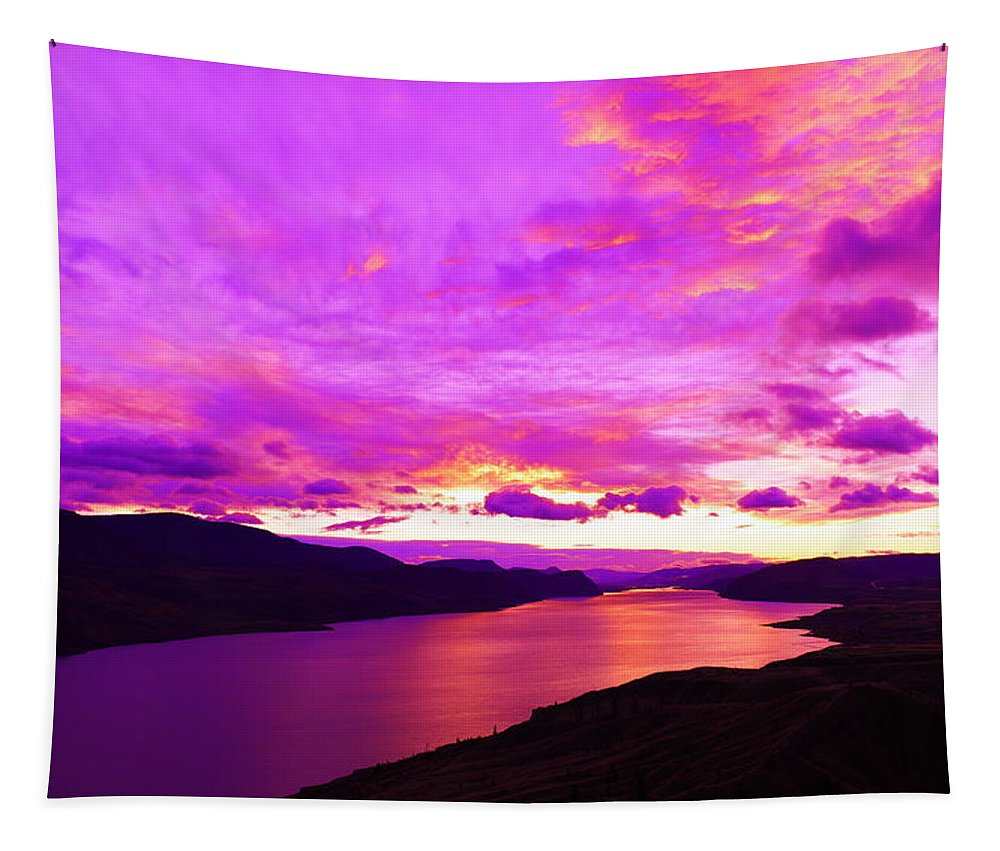 Lake Tapestry featuring the photograph Kamloops Lake At Dawn by Jeff Swan