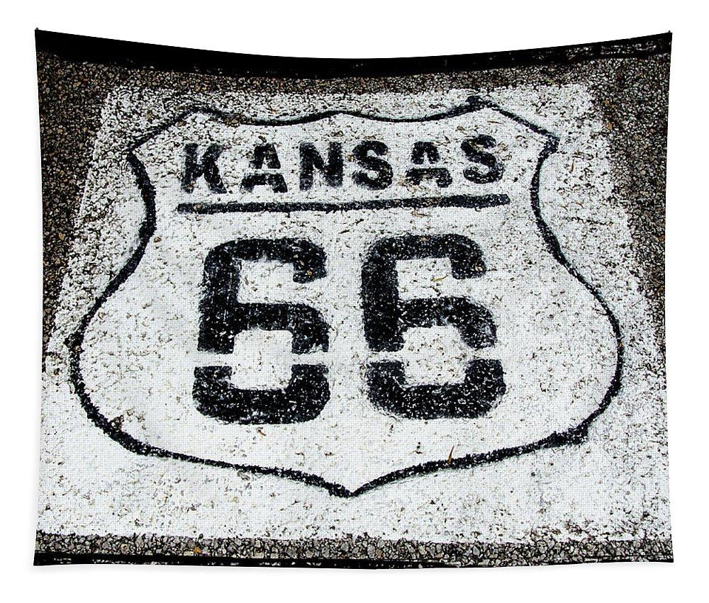 Kansas 66 Tapestry featuring the photograph Kansas 66 by Susan McMenamin