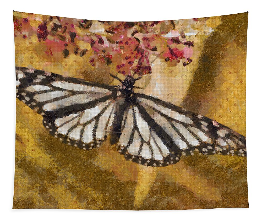 Butterfly Tapestry featuring the photograph Karma by Trish Tritz