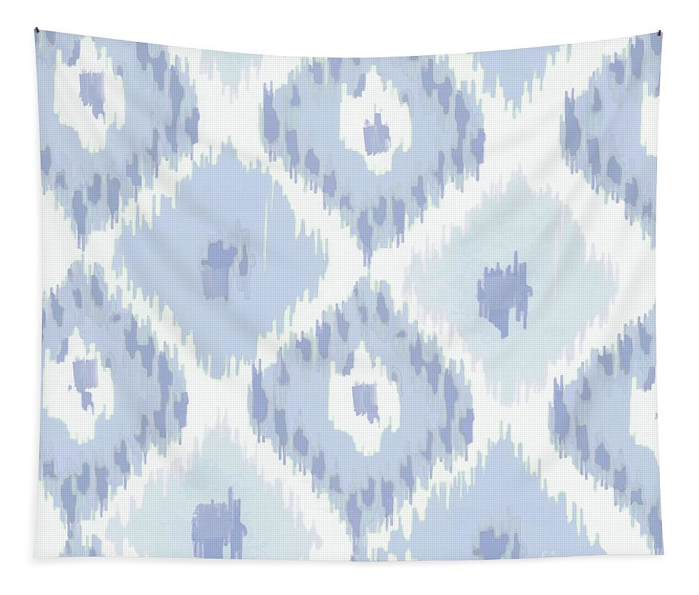 Ikat Tapestry featuring the painting Kasbah Blue Ikat by Mindy Sommers