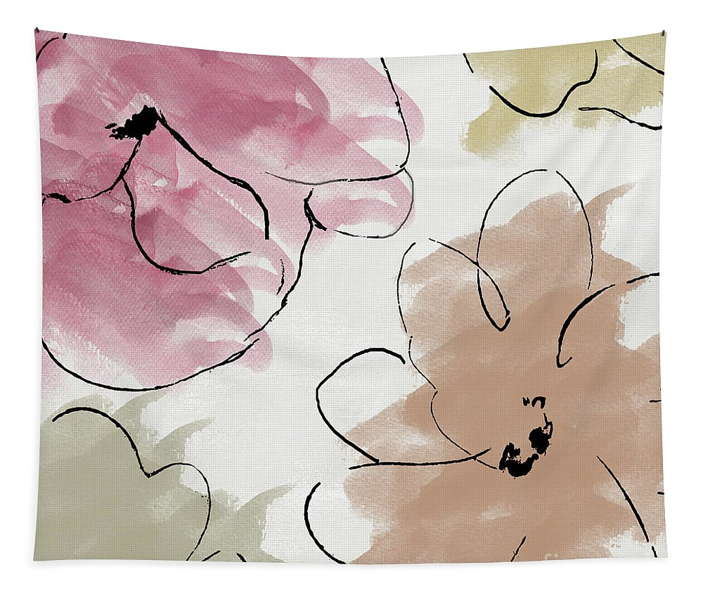 Abstract Tapestry featuring the painting Kasumi II by Mindy Sommers
