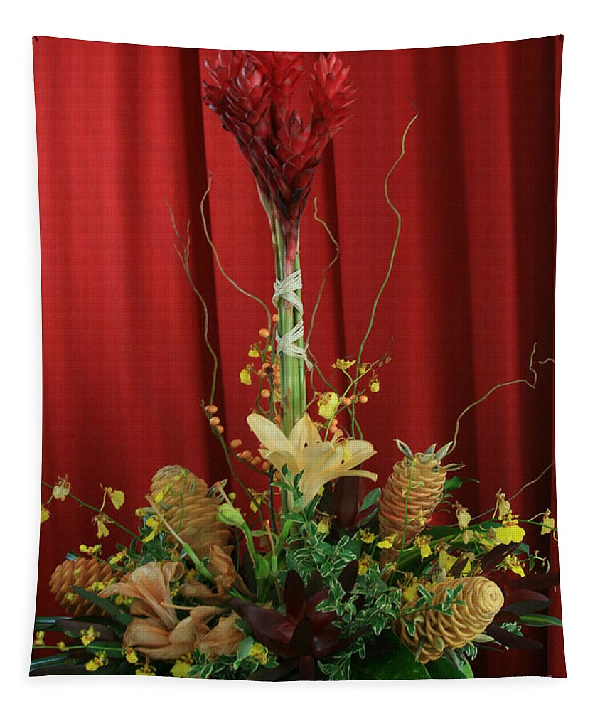 Aloha Tapestry featuring the photograph Keawalai Still Life Tropical Flowers by Sharon Mau