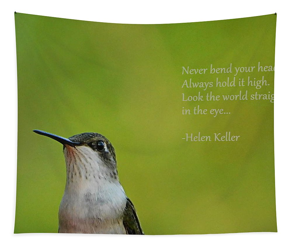 Keep Your Chin Up Tapestry featuring the photograph Keep Your Chin Up by Karen Cook