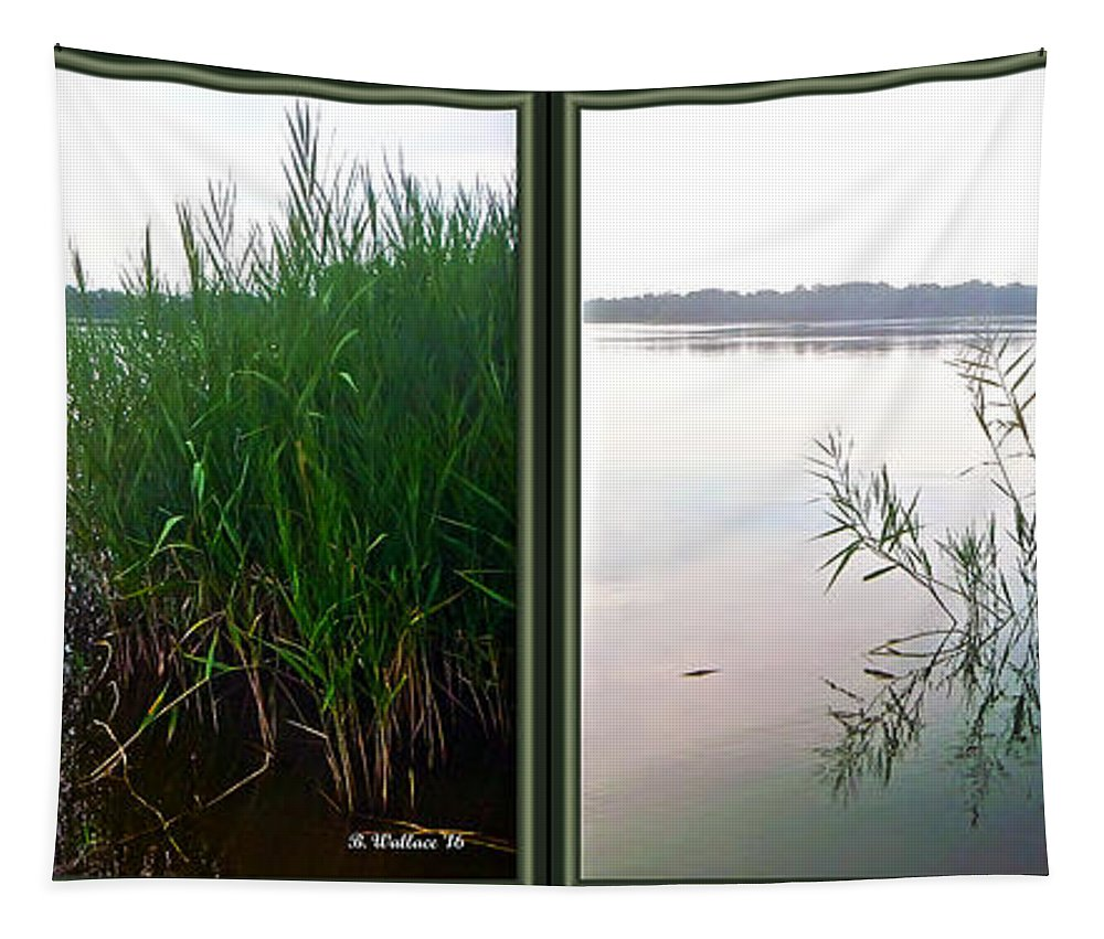 3d Tapestry featuring the photograph Kennersley Pt Marina 3d Crossview Stereo by Brian Wallace