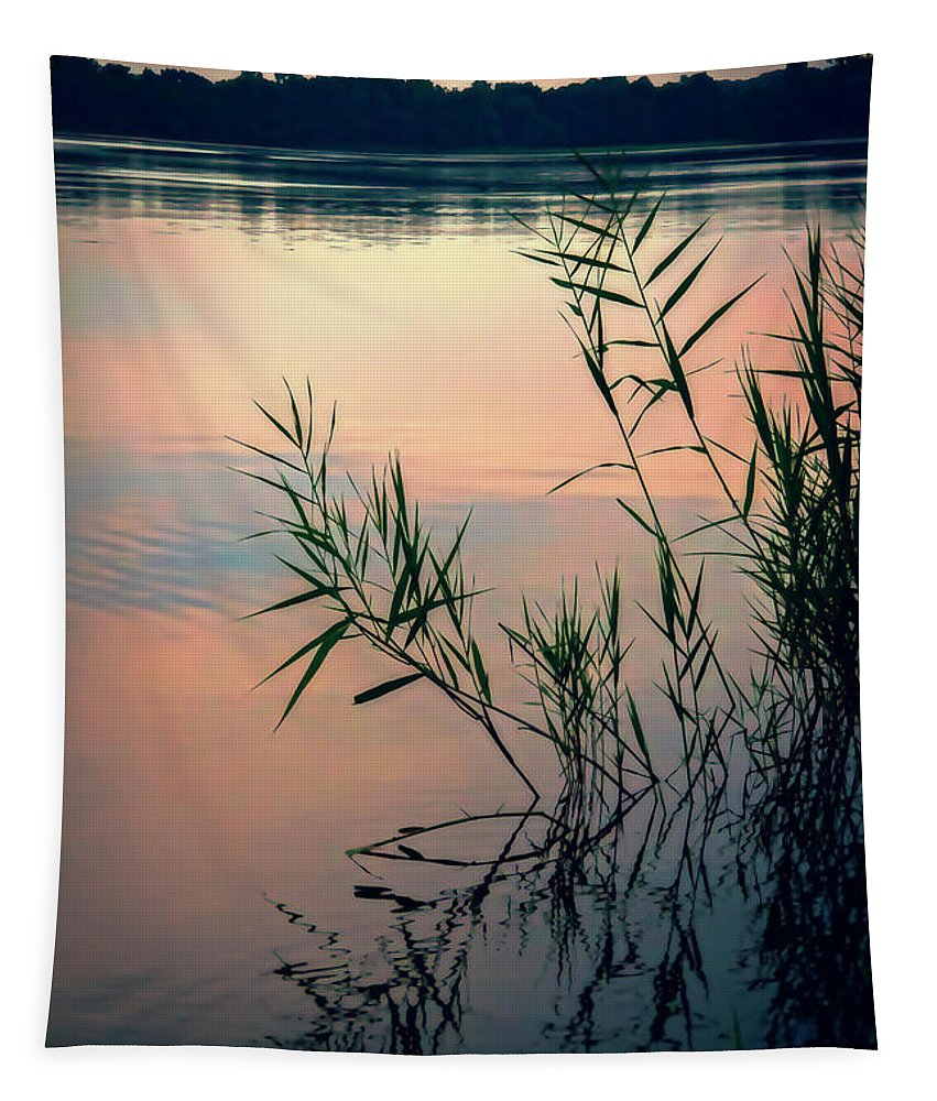 2d Tapestry featuring the photograph Kennersley Pt Marina by Brian Wallace