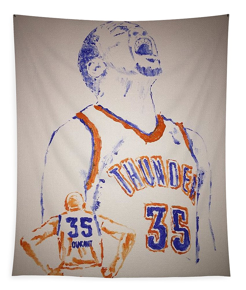 Kevin Durant Tapestry featuring the painting Kevin Durant by Jack Bunds