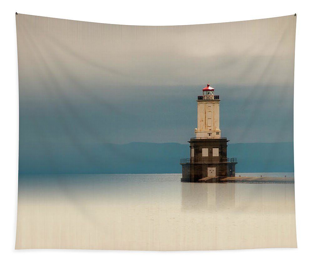 Keweenaw Waterway Lighthouse Tapestry featuring the photograph Keweenaw Waterway Lighthouse by Phyllis Taylor